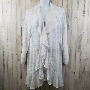 Chico's Travelers Womens Cardigan Sweater 3 White